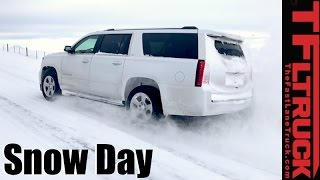 Download 4x4 vs 4-Auto vs Snowstorm: Chevy Suburban 4WD Snow Day Review Video