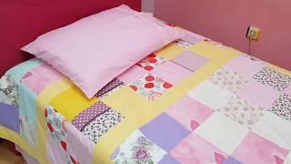 Download Tek kişilik yatak örtüsü - artan kumaş parçalarıyla neler yapılır? Video