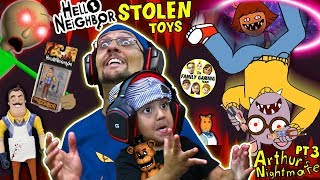 Download HELLO NEIGHBOR TOYS stolen by Crazy Cartoon! Escape His House = Get Them Back (FGTEEV Challenge) Video