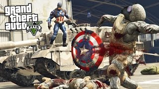 Download GTA 5 Mods - ULTRA REALISTIC CAPTAIN AMERICA MOD w/ THROWING SHIELD MOD!! (GTA 5 Mods Gameplay) Video