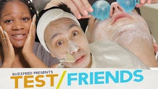Download People Get Facials For The First Time • The Test Friends Video
