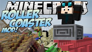 Download Minecraft | ROLLERCOASTER MOD! (Become a Rollercoaster Tycoon!) | Mod Showcase Video