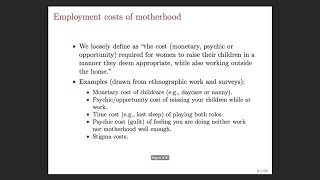 Download The Mommy Effect: Do Women Anticipate the Employment Effects of Motherhood? with Jessica Pan Video