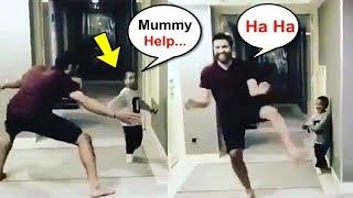 Download Rohit Sharma Scares Shikhar Dhawan Son Zoravar Video