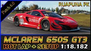 Download Project Cars 2 | Mclaren 650s Hot Lap + Setup @Ruapuna Park 1:18.182 Video
