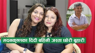 Download मदनकृष्णका लोभलाग्दा छोरी बुहारी भन्छन्, हामी दिदी बहिनी हौँ ।। Sarana Shrestha & Rinku ।। Forsee Video