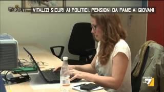 Download Vitalizi sicuri ai politici, pensioni da fame ai giovani Video