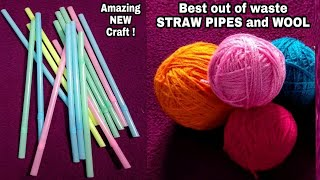 Download DIY Best out of Straw Pipes/Hanging Jhumar out of Straw Pipes &Wool Video