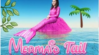 Download REAL MERMAID?!?! DIY Pink Mermaid Tail How To - Peachy Liv Video
