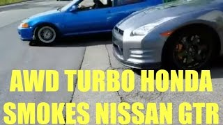 Download AWD Turbo Civic Smokes Nissan GTR Video