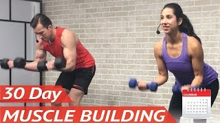 Download 30 Day Muscle Building Program 💪 +20 FREE Full-Length Bodybuilding Workouts at Home for Men & Women Video
