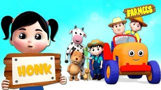 Download Tractor Wheels Go Round And Round | Nursery Rhymes For Children by Farmees Video