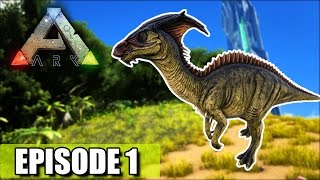 Download THE BEGINNING ″Ark Survival Evolved″ 1st Dino Tame! Video