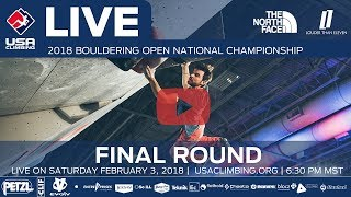 Download Final Round - 2018 Open Bouldering National Championship Video
