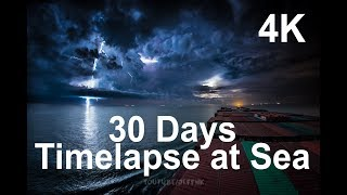 Download 30 Days Timelapse at Sea | 4K | Through Thunderstorms, Torrential Rain & Busy Traffic Video