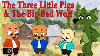 Download The Three Little Pigs and Big Bad Wolf | HD Animated Fairy Tales for Children | Full Story Video