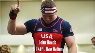 Download John Haack | 2016 USAPL Raw Nationals - 1785 Total (I don't know what to do with my hands) Video
