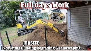 Download Full day of work excavating & Landscaping a backyard with new retaining walls 4k Timelapse Video