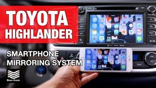 Download 2014-2018 Toyota Highlander Smartphone Mirroring System Installation and Demonstration Video