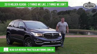 Download 2019 Holden Acadia - 3 things we like, 3 things we don't... Video