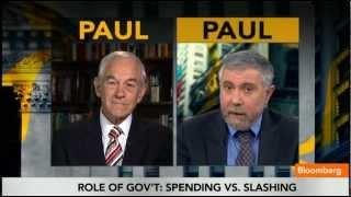 Download Ron (Austrian) Paul vs Paul (Keynesian) Krugman Video
