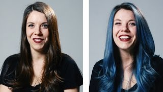 Download Women Dye Their Hair For The First Time Video