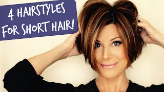Download 4 Easy Short Hairstyles That Will Make You Want A Bob! Video