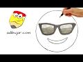 Download Cómo dibujar un emoji cool con gafas de sol | Emoticones Whatsapp paso a paso Video