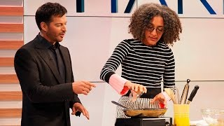 Download Harry Cooks with The Chew's Carla Hall Video