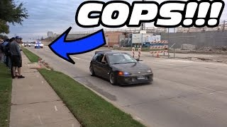 Download CARS LEAVING DALLAS CARS & COFFEE NOVEMBER LOUD ACCELERATIONS + COPS!! Video