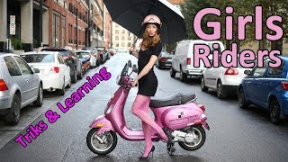 Download Awesome girls ride scooter (2017) Video