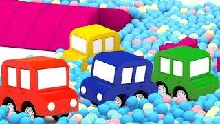 Download Las historias de 4 coches coloreados. Dibujos animados español. Video