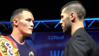 Download JOSH WARRINGTON v SOFIANE TAKOUCHT OFFICIAL HEAD-TO-HEAD AT PRESSER IN LEEDS / OCTOBER 12 Video