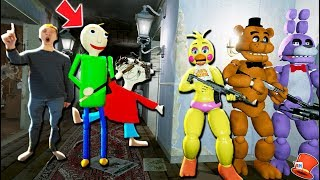 Download CAN THE ANIMATRONICS HIDE FROM BALDI'S BASICS PLAYTIME & THE PRINCIPAL? (GTA 5 Mods FNAF RedHatter) Video