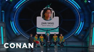 Download The Cast Of ″Silicon Valley″ Gets A Conference Call From Jian Yang - CONAN on TBS Video