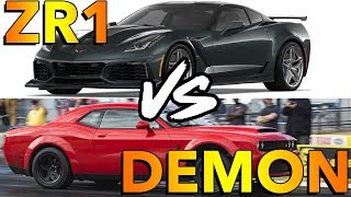 Download Dodge Demon vs 2019 Corvette ZR1 (Dig Race) Video