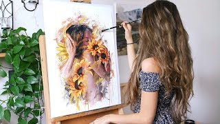 Download Oil Painting Time Lapse   ″Fusion″ Video