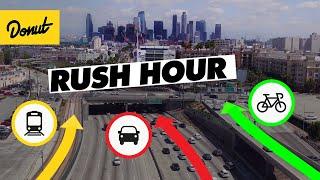 Download CAR vs BIKE vs TRAIN - We found the FASTEST way through LA Traffic Video