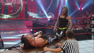 Download Jeff Hardy ties Matt Hardy to a table for a leg drop: Backlash 2009 Video