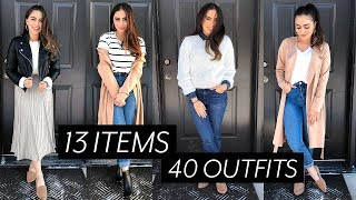 Download 40 OUTFITS FROM 13 ITEMS // TRAVEL CAPSULE WARDROBE ♡ Video