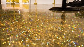 Download How to do a Metallic Epoxy Floor ″Gold Glitter″ Start to finish Video