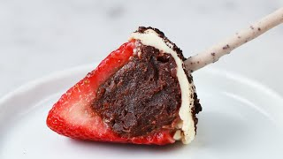 Download How To Stuff Strawberries With Brownie Truffles • Tasty Video