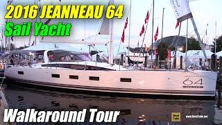 Download 2016 Jeanneau 64 Sailing Yacht - Deck, Exterior, Interior Walkaround - 2015 Annapolis SailBoat Show Video
