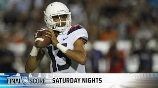 Download Highlights: Brandon Dawkins' career night helps Arizona football steamroll UTEP Video