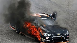 Download Bowman's tire catches fire Video