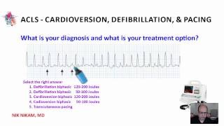 Download ACLS CARDIOVERSION, DEFIBRILLATION AND PACING NIK NIKAM MD Video