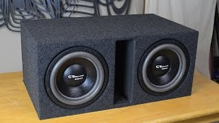 Download CT Sounds How To | Build a Ported Subwoofer Box for 2 12″ Subs Video