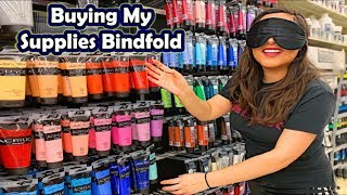 Download BUYING MY ART SUPPLIES BLINDFOLDED Video