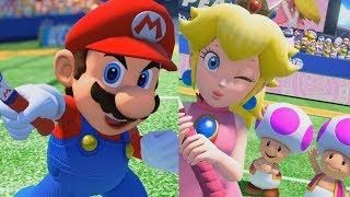 Download Mario Tennis Aces - Mario & Daisy vs Peach & Luigi Video