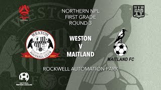 Download 2019 NPL Northern NSW u20s and 1st Grade - Round 3 - Weston Workers Bears v Maitland Magpies Video